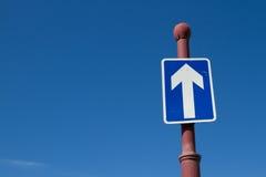 One-way sign. Stock Photos