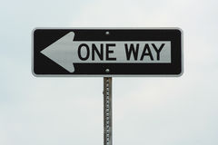 One Way Sign Stock Image