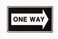 One way sign. stock photo