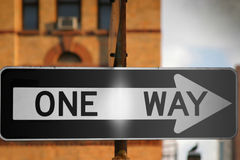 One Way sign royalty free stock photo