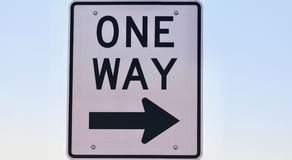 One way sign Stock Photo