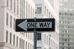 One way sign Royalty Free Stock Image