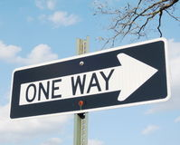 One way sign Stock Images