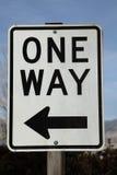 One Way Sign Stock Photos