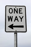 One way sign Royalty Free Stock Photos