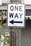 One way sign in Sydney Australia Stock Photography