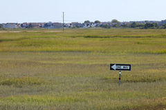 One Way sign on Wetlands Royalty Free Stock Image