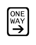 One Way Signpost Royalty Free Stock Photography