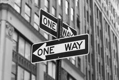 One Way Signs Stock Photography