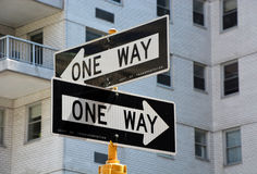 One way signs Royalty Free Stock Photos