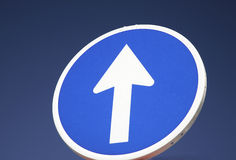 One way street sign Royalty Free Stock Photo