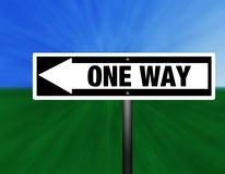 ONE WAY Street Sign Royalty Free Stock Photography