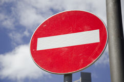 One way street sign. Close up Stock Image