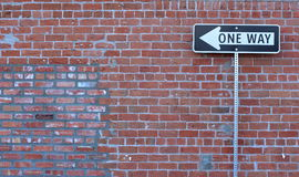 One way street sign Stock Photos