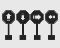 One way street sign icon. One way street sign icon on gray Background stock illustration