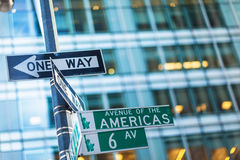 One way street signs Royalty Free Stock Images