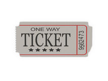 Ticket Stock Image