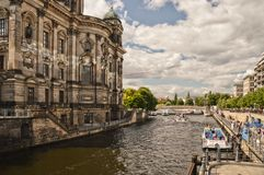 Walking in the river, in the museum quarter of Berlin royalty free stock images