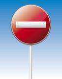 One way traffic board Stock Image