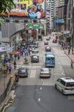 One way traffic in Hong Kong Stock Image