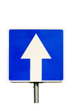 One-Way traffic road sign. Stock Photography