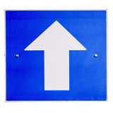 One way traffic sign Royalty Free Stock Images