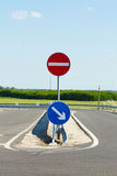 One way traffic sign Stock Images