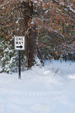 One Way traffic sign in snow Stock Images