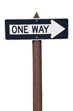 One way USA road sign Royalty Free Stock Images