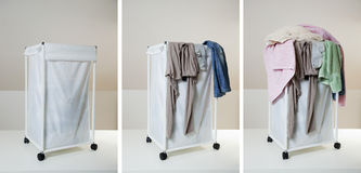 One week of laundry Royalty Free Stock Photo