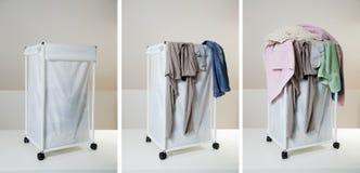 One week of laundry Royalty Free Stock Photo