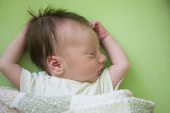 One Week Old Baby Royalty Free Stock Photos