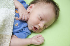 One Week Old Baby Royalty Free Stock Photography