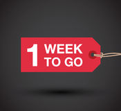 One week to go sign Royalty Free Stock Images