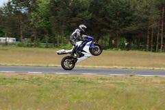 One wheel racing Royalty Free Stock Photo