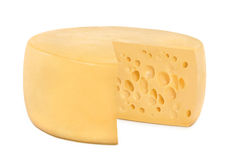 One wheel round cheese Stock Images
