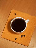 One white coffee cup on a napkin Royalty Free Stock Photography