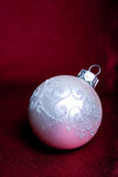 One white cristmas tree ball. Royalty Free Stock Photography