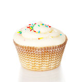 One white cupcake Royalty Free Stock Photos