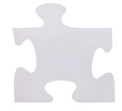 One white piece of jigsaw puzzle Royalty Free Stock Images