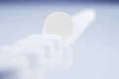 One White Pills Royalty Free Stock Photography