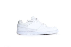 One white sneaker on a white background Stock Image