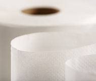 One white toilet paper roll Royalty Free Stock Photography