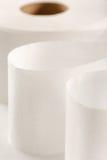 One white toilet paper roll Stock Photos