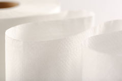 One white toilet paper roll Royalty Free Stock Photo