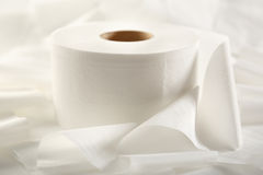 One white toilet paper roll Royalty Free Stock Image