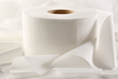 One white toilet paper roll Royalty Free Stock Images