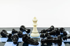 One white win blacks chess Stock Image