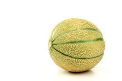 One whole cantaloupe melon Stock Photo