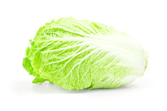 One whole chinese cabbage on a white background Royalty Free Stock Photography